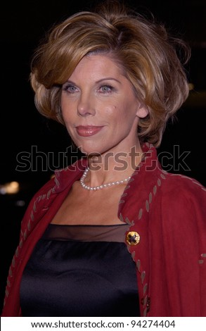 Actress CHRISTINE BARANSKI at the Los Angeles premiere of her new movie Chicago. 10DEC2002.   Paul Smith / Featureflash