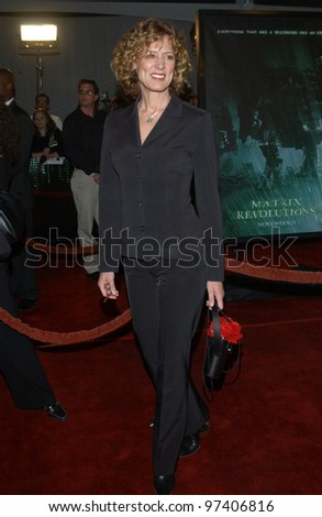 Actress CHRISTINE LAHTI at the world premiere, in Los Angeles, of The Matrix Revolutions. October 27, 2003  Paul Smith / Featureflash
