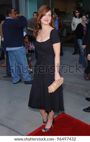 Actress DREW BARRYMORE at the world premiere, in Hollywood, of her new animated movie Curious George. January 28, 2006  Los Angeles, CA  2006 Paul Smith / Featureflash - stock photo