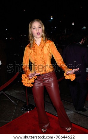 Actress ERIKA CHRISTENSEN at the Los Angeles premiere of Snatch. 18JAN2001.   Paul Smith/Featureflash