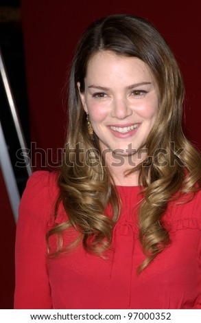 Actress JACINDA BARRETT at the world premiere, in Hollywood, of her new movie Ladder 49. September 20, 2004
