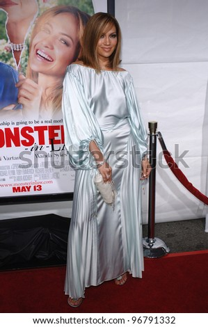 Actress JENNIFER LOPEZ at the Los Angeles premiere for her new movie Monster in Law. April 29, 2005 Los Angeles, CA.  2005 Paul Smith / Featureflash - stock photo