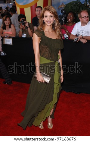 Actress JESSICA ALBA at the 2005 MTV Movie Awards at the Shrine Auditorium. June 4, 2005. Los Angeles, CA  2005 Paul Smith / Featureflash - stock photo