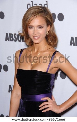 Actress JESSICA ALBA at the 17th Annual GLAAD (Gay & Lesbian Alliance Against Defamation) Media Awards at the Kodek Theatre, Hollywood. April 8, 2006  Los Angeles, CA  2006 Paul Smith / Featureflash - stock photo