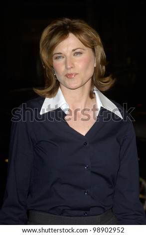 Actress LUCY LAWLESS at the Los Angeles premiere of her new movie EuroTrip. February 17, 2004