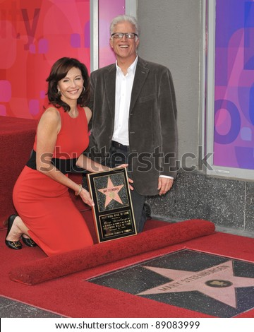 Actress Mary Steenburgen & husband Ted Danson was honored today with the 2,395th star on the world-famous Hollywood Walk of Fame. December 16, 2009  Los Angeles, CA Picture: Paul Smith / Featureflash - stock photo