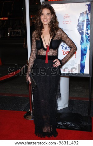 Actress MICHELLE MONAGHAN at the Hollywood premiere of her new movie Kiss Kiss, Bang Bang.. October 18, 2005  Los Angeles, CA.  2005 Paul Smith / Featureflash