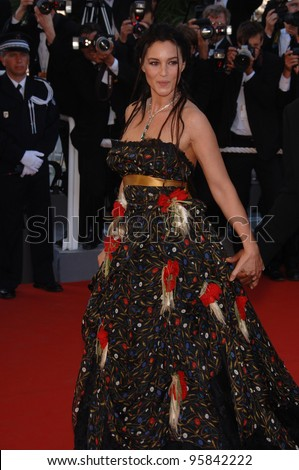 "Actress MONICA BELLUCCI at the gala screening for ""Marie Antoinette"" at the 59th Annual International Film Festival de Cannes. May 24, 2006  Cannes, France.  2006 Paul Smith / Featureflash - stock photo"