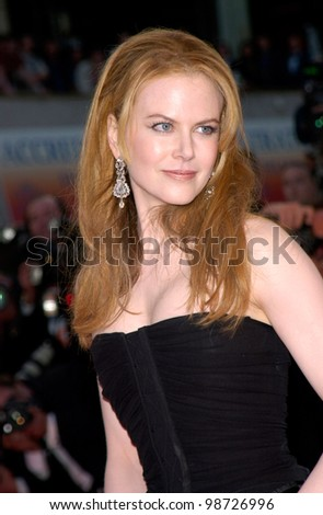 Actress NICOLE KIDMAN at the premiere of her new movie Moulin Rouge which opened the 54th Cannes Film Festival. 09MAY2001   Paul Smith/Featureflash - stock photo