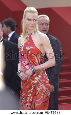 Actress NICOLE KIDMAN at the screening of her movie Dogville at the Cannes Film Festival. 19MAY2003