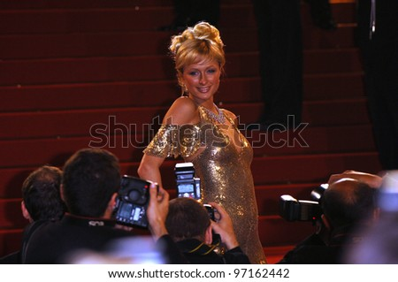 Actress PARIS HILTON at the official screening of Kiss Kiss, Bang Bang at the 58th Annual Film Festival de Cannes. May 14, 2005 Cannes, France.  2005 Paul Smith / Featureflash - stock photo
