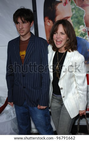 Actress SALLY FIELD & son SAM at the Los Angeles premiere of Monster in Law. April 29, 2005 Los Angeles, CA.  2005 Paul Smith / Featureflash - stock photo