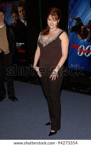 Actress SARA RUE at the special screening in Los Angeles of the new James Bond movie Die Another Day. 11NOV2002.   Paul Smith / Featureflash