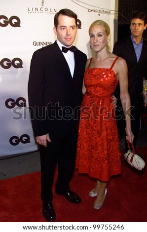 Actress SARAH JESSICA PARKER & actor husband MATTHEW BRODERICK at GQ Magazine's 5th Annual Men of the Year Awards in New York. 26OCT2000.   Paul Smith / Featureflash