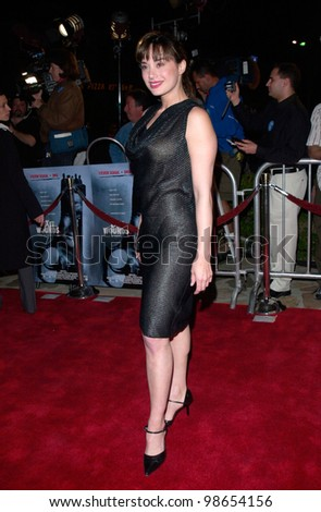 Actress SASCHA KNOPF at the Los Angeles premiere of Exit Wounds. 13MAR2001.    Paul Smith/Featureflash