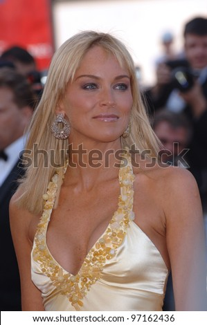 Actress SHARON STONE at the gala premiere of Star Wars - Revenge of the Sith - at the 58th Annual Film Festival de Cannes. May 15, 2005 Cannes, France.  2005 Paul Smith / Featureflash - stock photo
