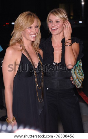 Actresses CAMERON DIAZ (right) & TONI COLLETTE at the Los Angeles premiere of their new movie In Her Shoes. September 28, 2005  Los Angeles, CA.  2005 Paul Smith / Featureflash - stock photo