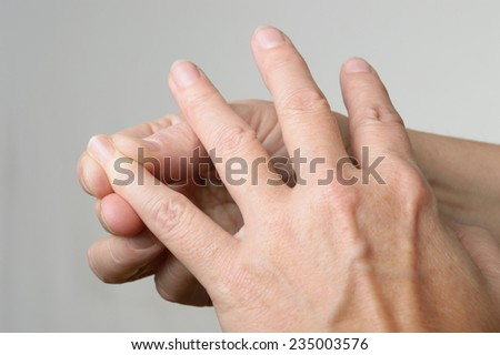 acupressure point for nausea - stock photo