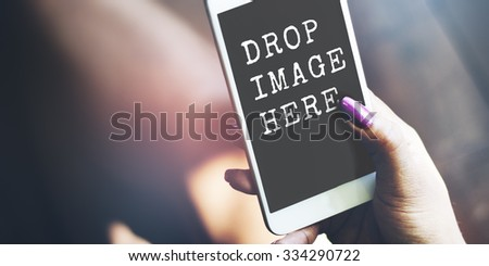 Ad Advertisement Commercial Marketing Media Digital Concept - stock photo