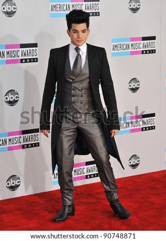 Adam Lambert arriving at the 2011 American Music Awards at the Nokia Theatre, L.A. Live in downtown Los Angeles. November 20, 2011  Los Angeles, CA Picture: Paul Smith / Featureflash