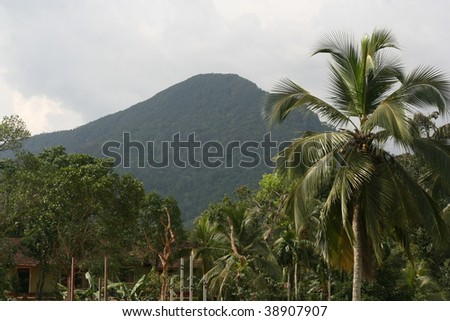 adam's peak, sri lanka - stock photo