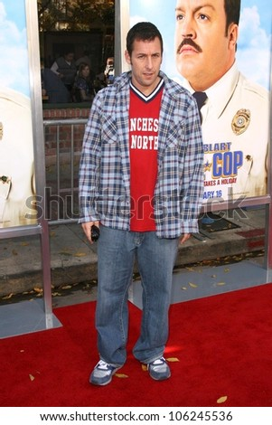 Adam Sandler  at the Los Angeles Premiere of 'Paul Blart Mall Cop'. Mann Village Theatre, Westwood, CA. 01-10-09