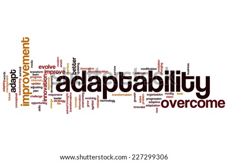 Adaptability word cloud concept - stock photo