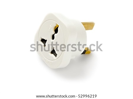Adapter isolated on the white background