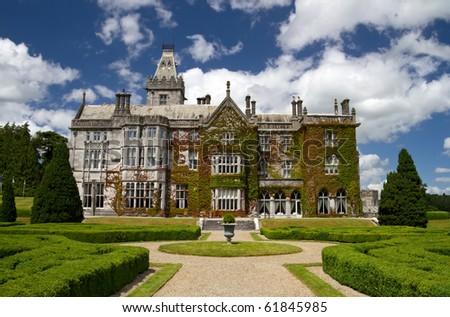Adare mansion - Ireland - stock photo