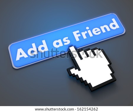Add as friend like button symbol illustration