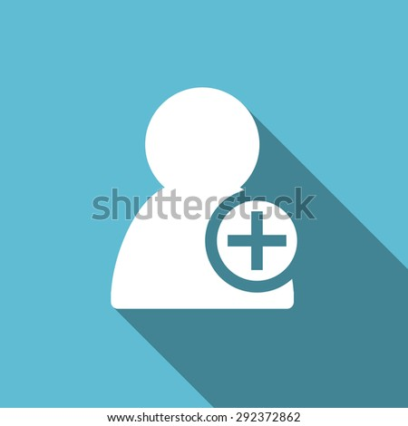 add contact flat icon  original modern design flat icon for web and mobile app with long shadow  - stock photo
