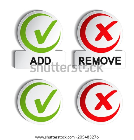 add remove circular item