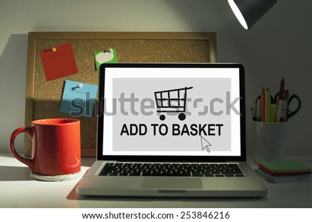Add to basket / Online shopping concept - stock photo