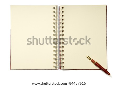Add your own element.  An open spiral notebook with blank pages.