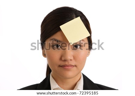 Add your own message on the yellow note - stock photo