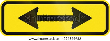 Additional traffic sign in Australia - Sign applies both directions - stock photo