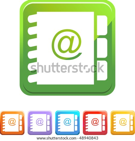 Address Book web button isolated on a background.