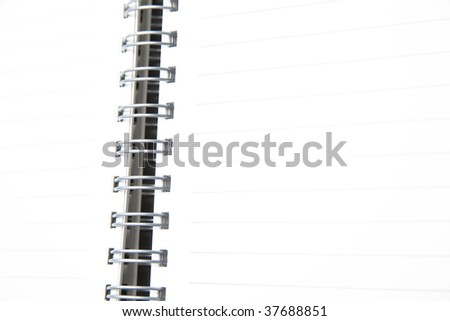 Address book with metal spiral, white paper