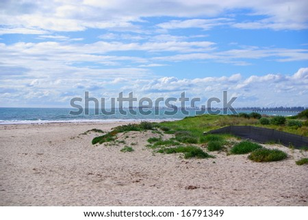 Adelaide coastline, from Semaphore to Outer Harbour around the Gulf St Vincent, including the North Haven Marina (Australia). - stock photo