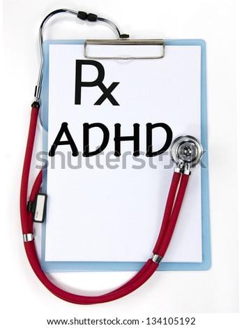 ADHD diagnosis sign - stock photo