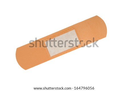 Adhesive bandage isolated on a white - stock photo
