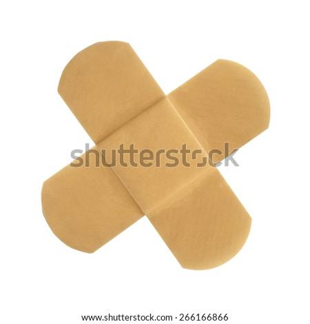 Adhesive plaster isolated on white background - stock photo