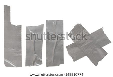 Adhesive tape isolated on white background - stock photo