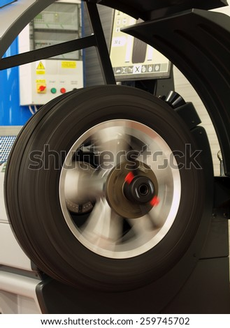Adjustment wheels in modern workshop - stock photo