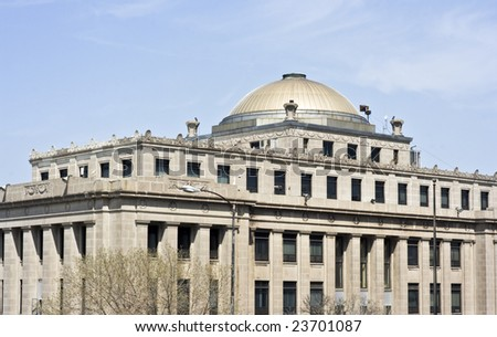 Administration Building in Gary, Indiana - stock photo