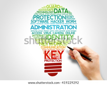 ADMINISTRATION bulb word cloud, business concept - stock photo