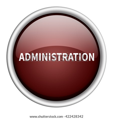 administration icon - stock photo