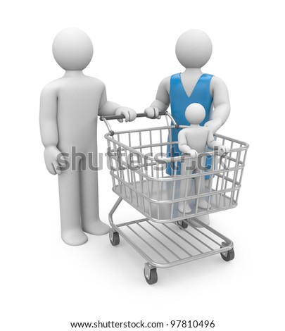Adoption or shopping. Image contain clipping path - stock photo