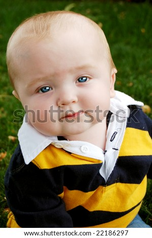 Adorable and Innocent Baby Boy - stock photo