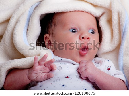 adorable baby boy - stock photo